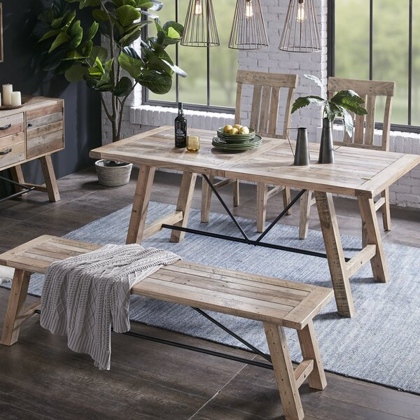 Maiorano 4 Piece Solid Wood Dining Set by Mistana