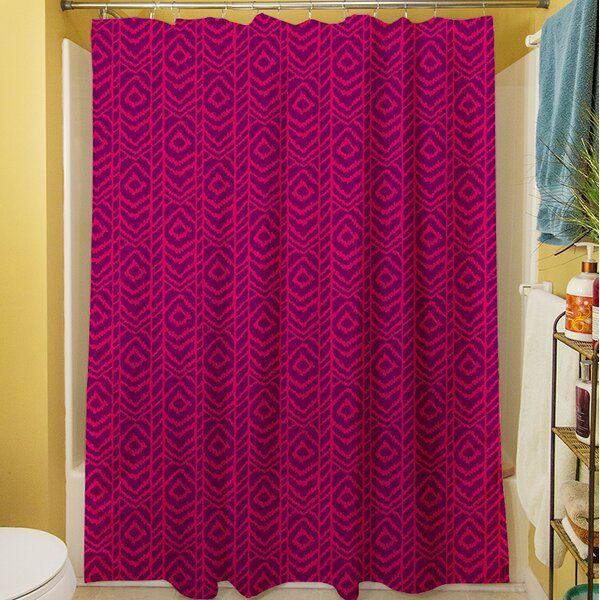 Sketched Ikat Shower Curtain by Manual Woodworkers & Weavers