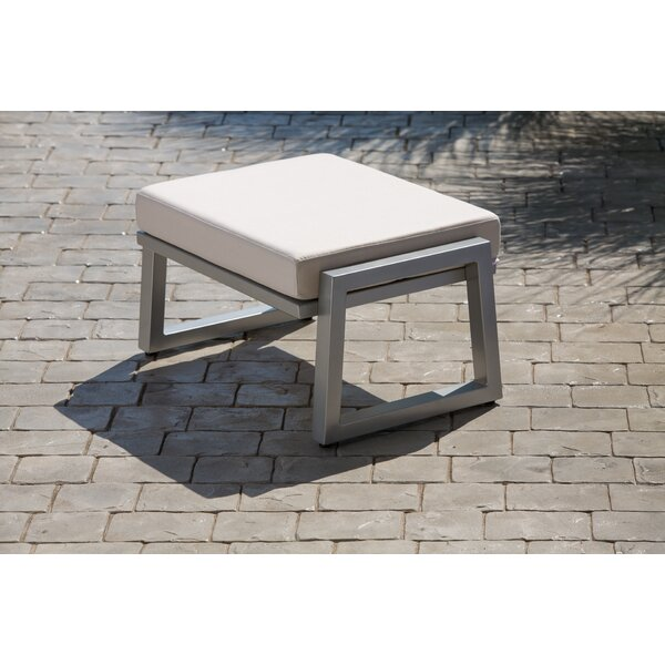 Waubun Outdoor Ottoman with Sunbrella Cushions by Brayden Studio