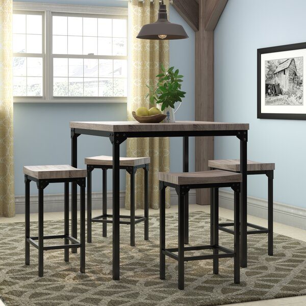 Wegner 5 Piece Counter Height Dining Set by Gracie Oaks