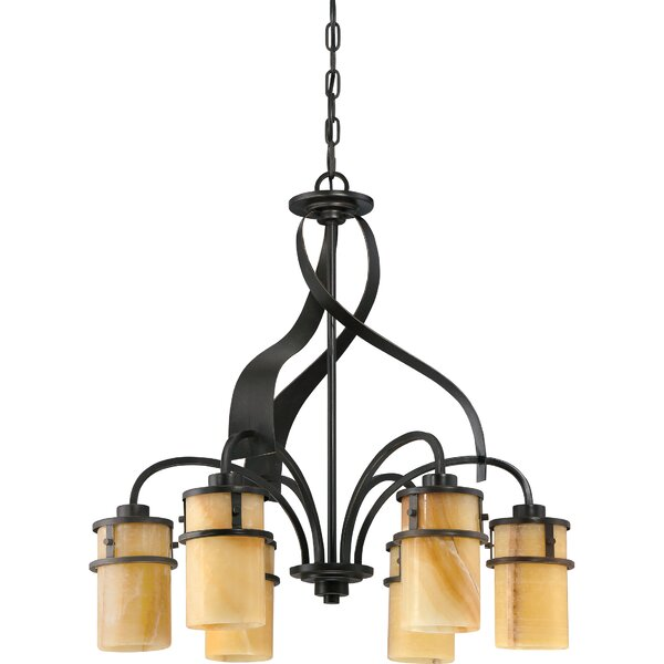 Colby 6 - Light Shaded Classic / Traditional Chandelier By Loon Peak