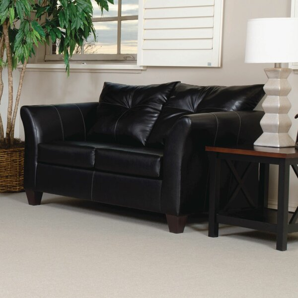 Russo Bonded Leather Loveseat by Red Barrel Studio