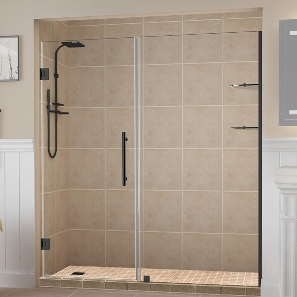 Belmore GS 67 x 72 Hinged Frameless Shower Door by Aston
