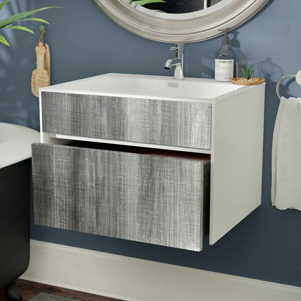 Brockman 24 Single Bathroom Vanity Set by Wade Logan