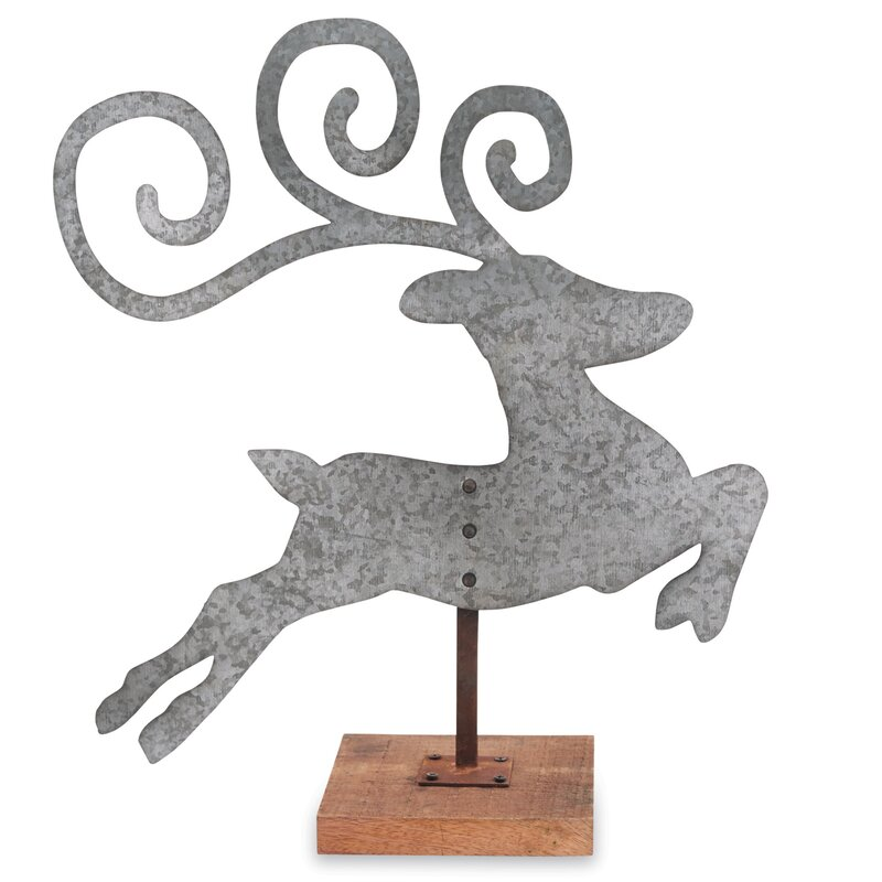 Leaping Deer Table Sitter Figurine