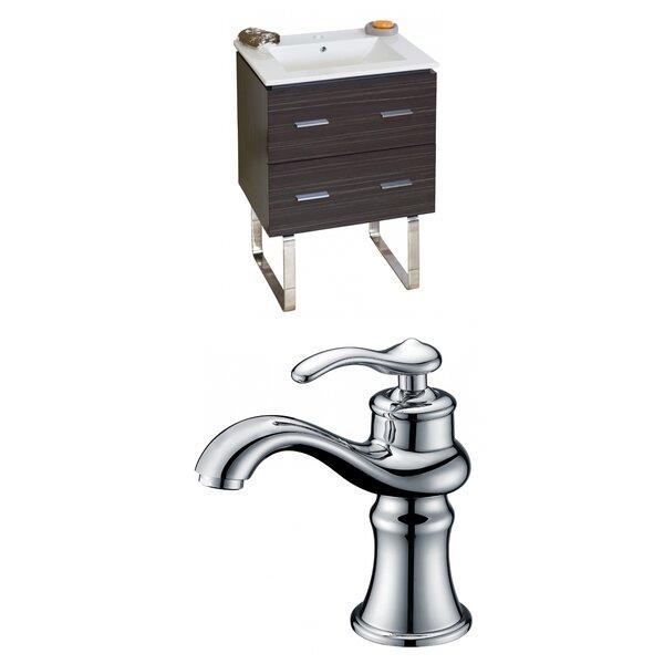 Kyra 24 Rectangle Single Bathroom Vanity Set with 2 Drawers by Orren Ellis