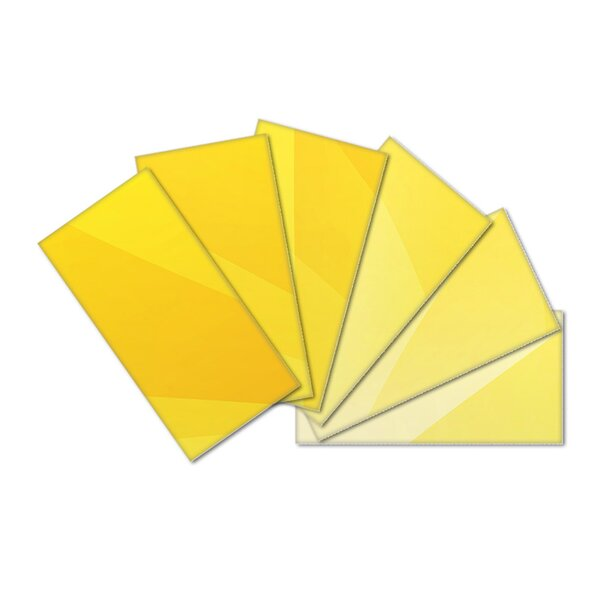 Crystal Skin 3 x 6 Glass Subway Tile in Yellow by SkinnyTile