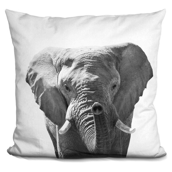 Hogle Elephant Throw Pillow by Wrought Studio