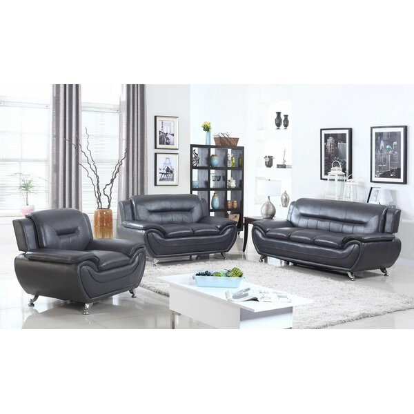 Macaire 3 Piece Living Room Set by Orren Ellis