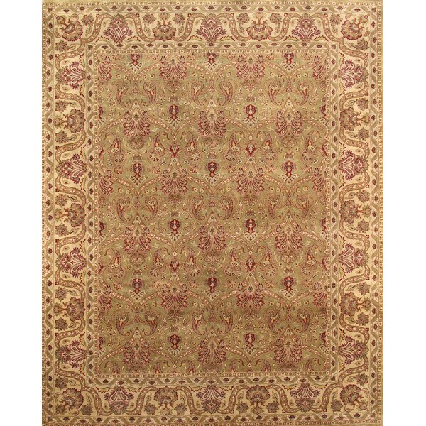 Hand-Knotted Wool Beige Rug