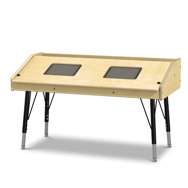 Wood Adjustable Height Tablet Table by Jonti-Craft