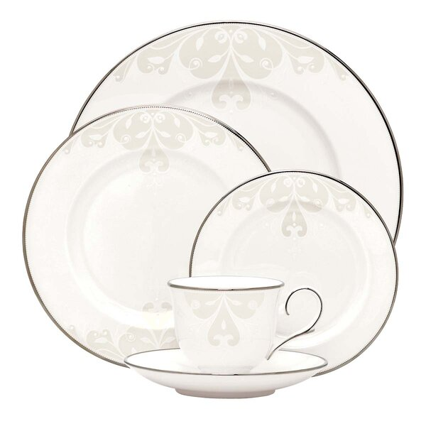 Opal Innocence Scroll 5 Piece Place Setting, Service for 1 by Lenox