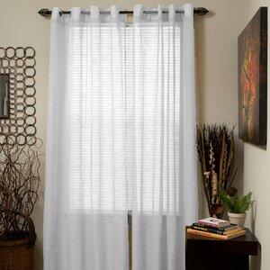 Jacquard Solid Sheer Grommet Single Curtain Panel