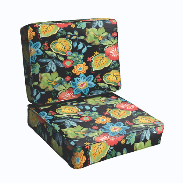 2 Piece Indoor/Outdoor Chair Cushion Set by Bay Isle Home