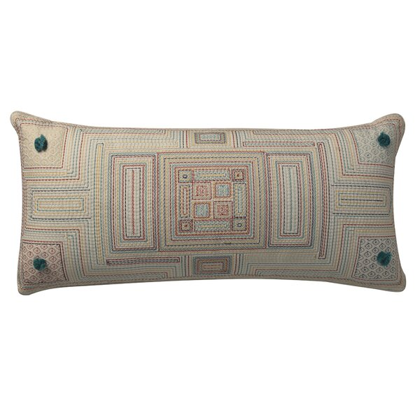 Capitol Pom Pom Deco Cotton Lumbar Pillow by World Menagerie