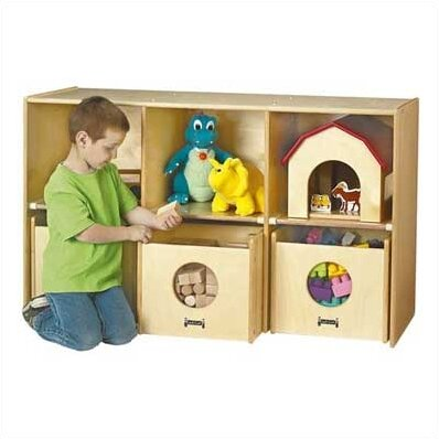See-n-Wheel Shelf 6 Compartment Cubby with Casters