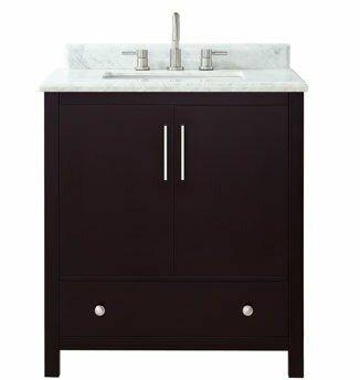 Pergamon Marble Top 31 Single Bathroom Vanity Set by Brayden Studio