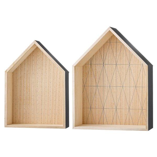Shevchenko Place 2 Piece Wood Display House Shelf Set by Brayden Studio