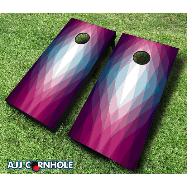 10 Piece Magenta Crystal Cornhole Set by AJJ Cornhole