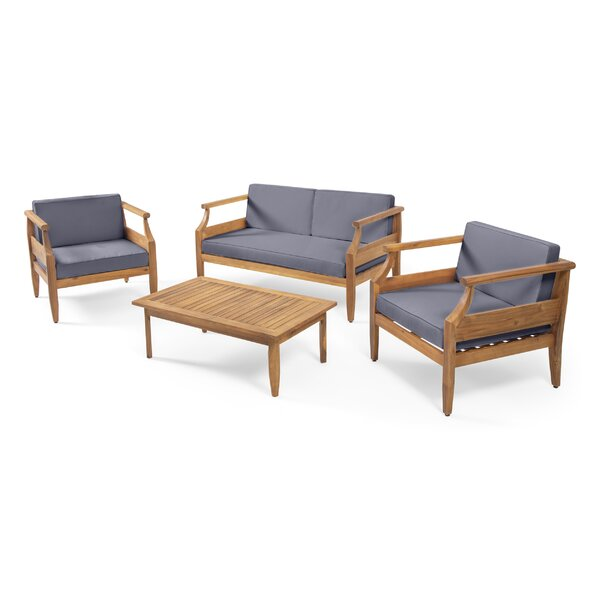 4 Piece Sofa Seating Group with Cushions by Highland Dunes