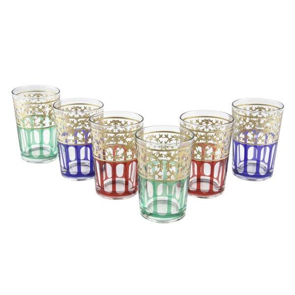 Moroccan Moorish Design Glasses (Set of 6) by Casablanca Market