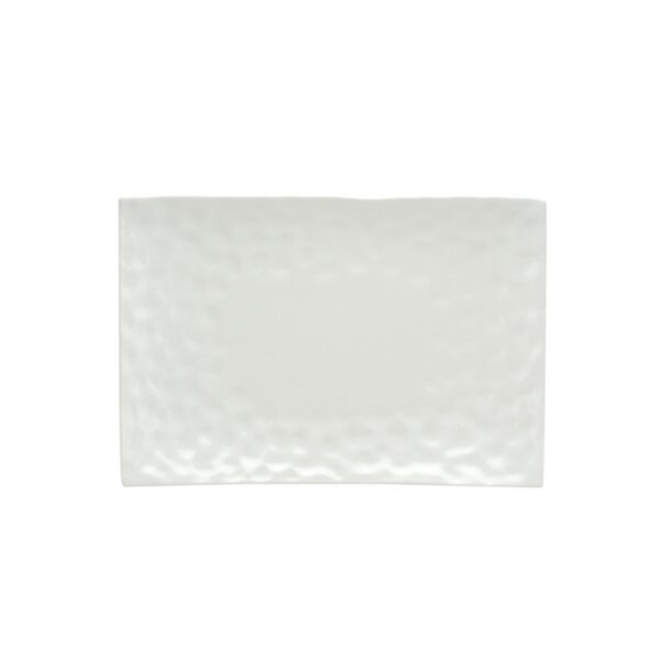 Marble 8 x 6 Rectangular Salad Plate (Set of 4) by Red Vanilla