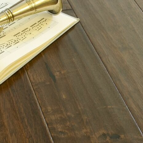 Chateau Bistro 5 Engineered Pecan Hardwood Flooring in Mocha by Meritage Hardwood