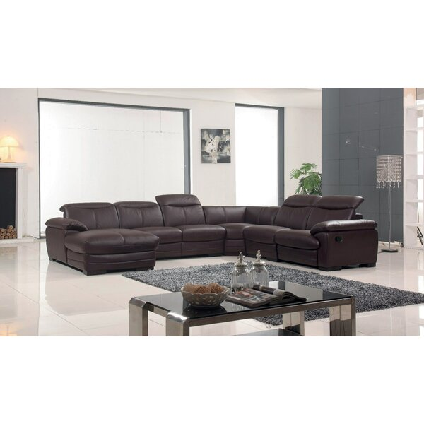Baratta Leather Left Hand Facing Reclining Sectional By Latitude Run