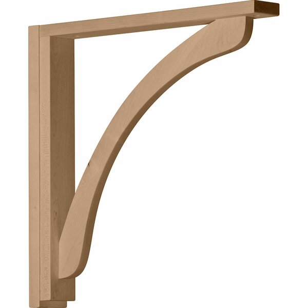 Reece 17 1/4H x 2 1/2W x 17 3/4D Shelf Bracket in Alder by Ekena Millwork