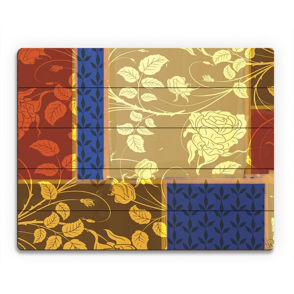 Sunny Floral Windows Graphic Art on Plaque by Click Wall Art