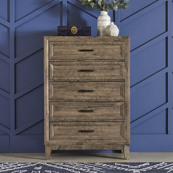 Riccardi 5 Drawer Chest by Union Rustic