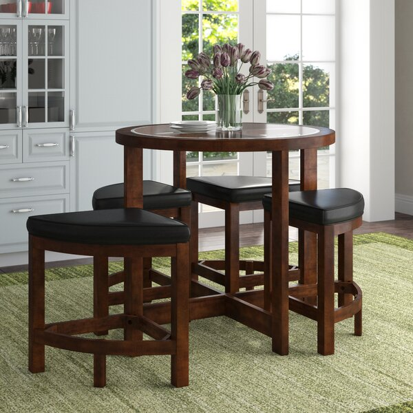 Jinie 5 Piece Counter Height Dining Set By Red Barrel Studio