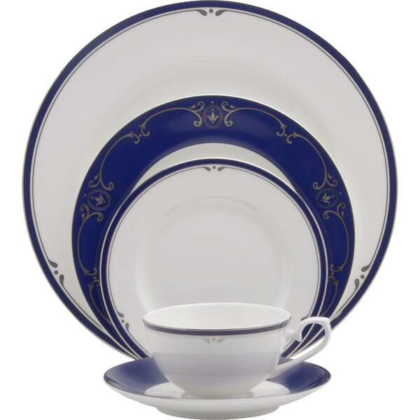 Louis XVI Bone China 5 Piece Place Setting Set, Service for 1 by Oneida