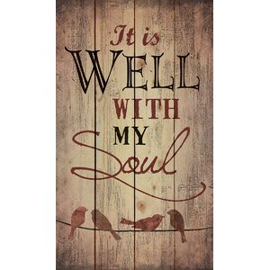 'It is Well' Textual Art on Wood by August Grove