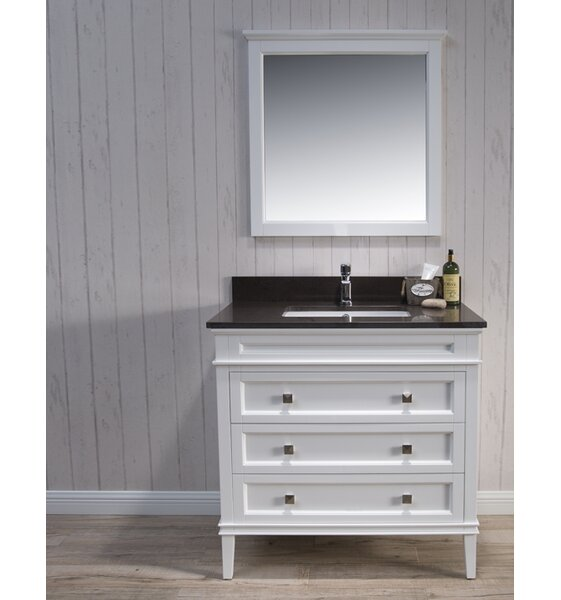 Briese Traditional 37 Single Bathroom Vanity Set with Mirror by Wrought Studio