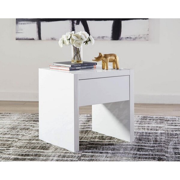 Stilwell End Table With Storage By Orren Ellis