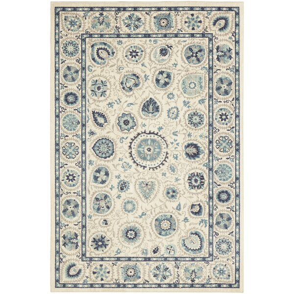 Sedgemoor Beige/Blue Area Rug by Darby Home Co