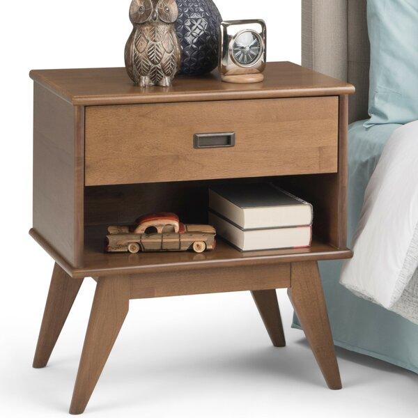 Draper Mid Century 1 Drawer Nightstand by Simpli Home