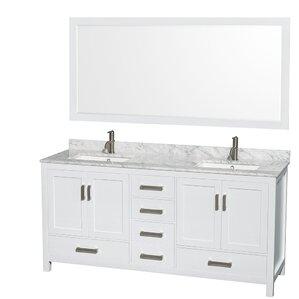 white double sink bathroom vanity.  Double Vanities You ll Love Wayfair