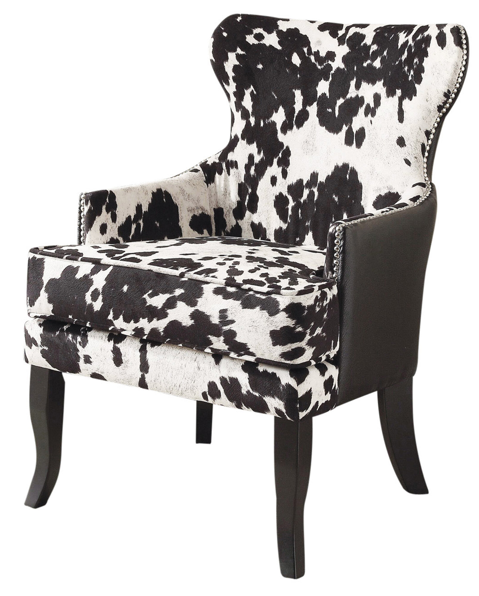 Exceptionnel !nspire Faux Cowhide Accent Wingback Chair U0026 Reviews | Wayfair