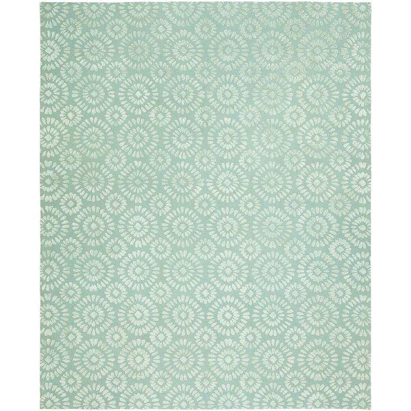 Nathalia Hand-Tufted Wool Blue Area Rug by Ophelia & Co.
