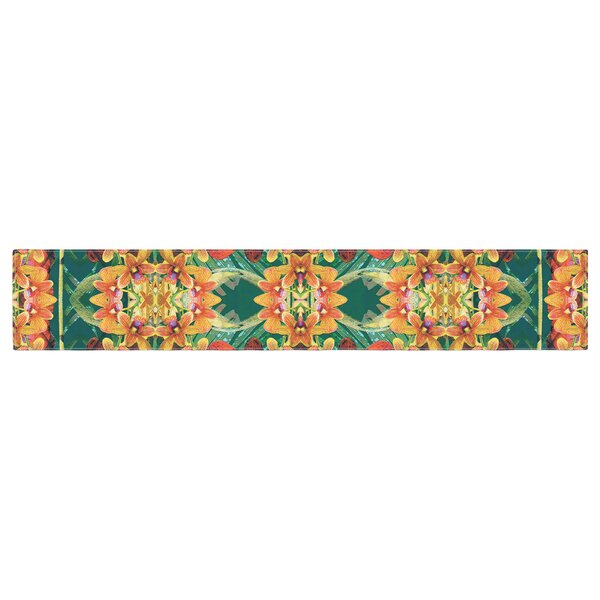 Dawid Roc Tropical Floral Table Runner by East Urban Home