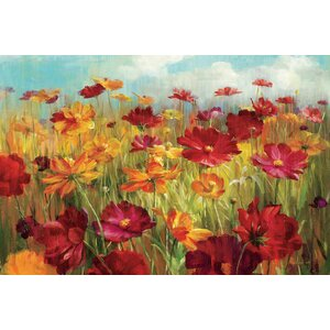 'Cosmos in the Field' Graphic Art on Wrapped Canvas by Winston Porter