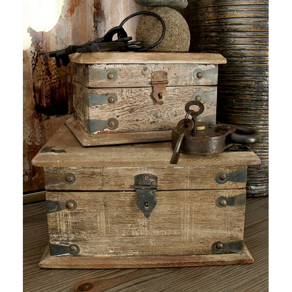 Wood Reclaimed 3 Piece Decorative Box Set by Cole & Grey