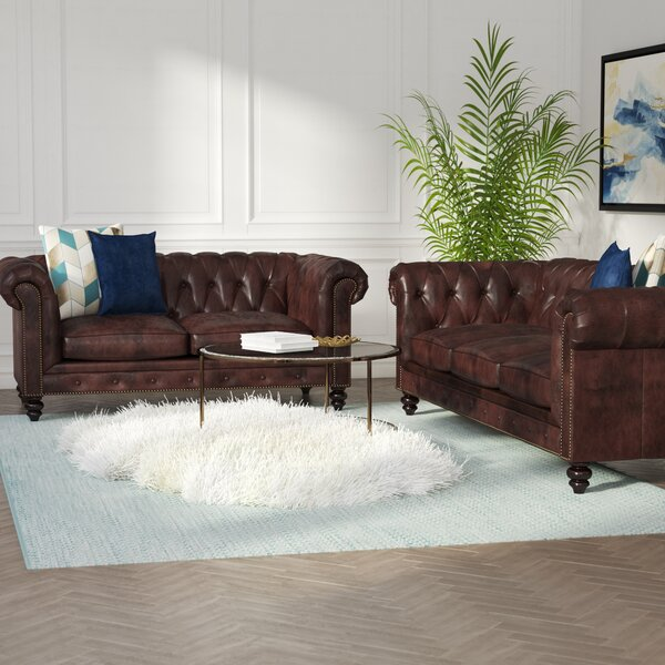 Tunbridge Wells 2 Piece Leather Living Room Set by House of Hampton