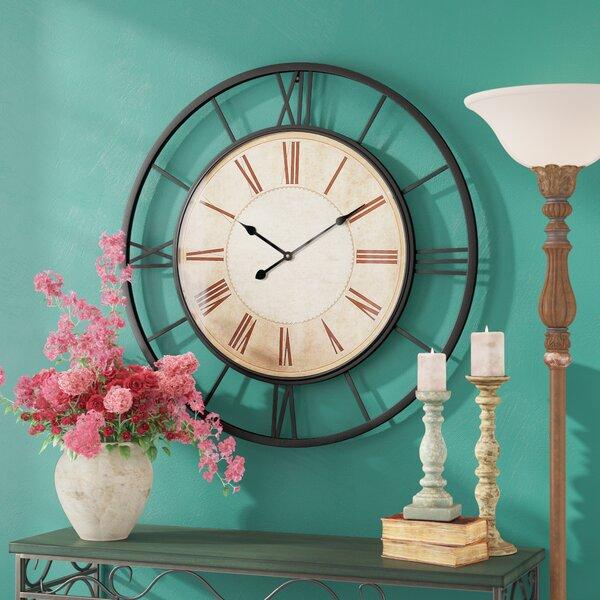 Oversized Catron Metal 37 Wall Clock by Fleur De Lis Living