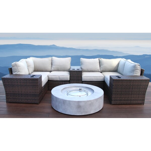 Perrytown 10 Piece Sectional Seating Group with Cushions by Sol 72 Outdoor