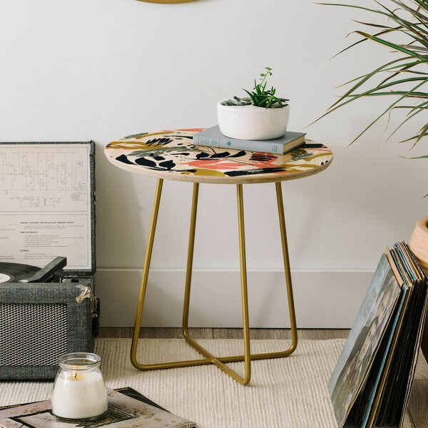 Marta Barragan Camarasa Brushstrokes of Nature I End Table by East Urban Home East Urban Home