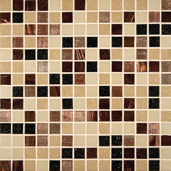 Desert Sunset 0.75 x 0.75 Glass Mosaic Tile in Brown by MSI