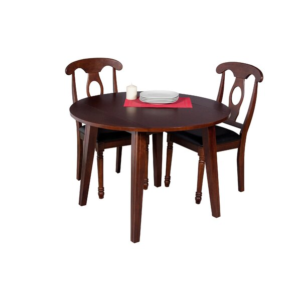 Dinh Modern 3 Piece Extendable Solid Wood Dining Set by Latitude Run